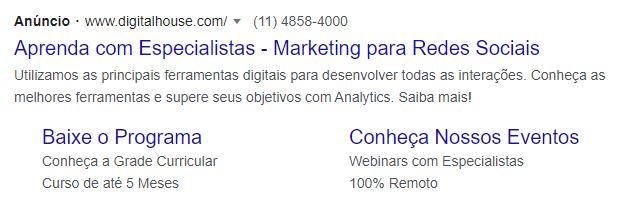Anúncio Rede de Pesquisa do Google